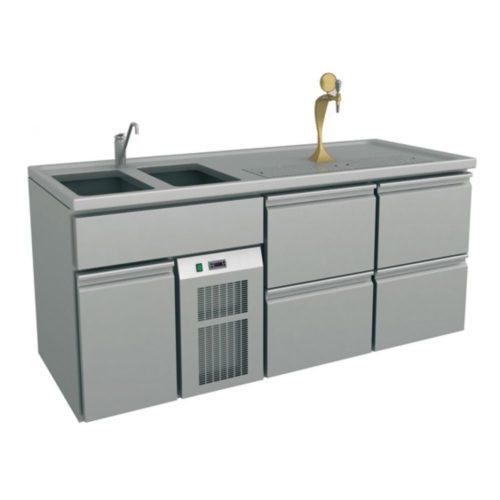 Ausschanktheke 1950x700x930 mm, Umluftkühlung, 350 W, - GGG