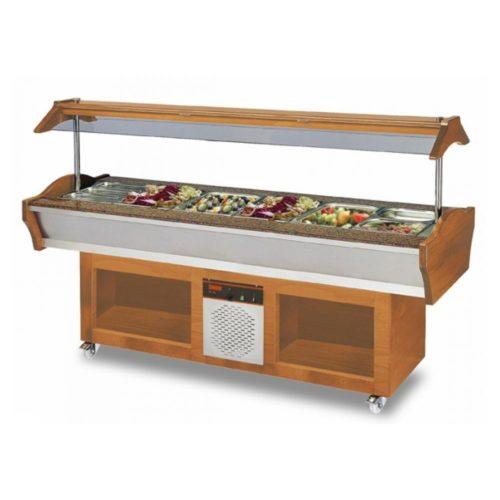 Gastro Buffet Salatbar, 2200x900x850/1350 mm, 790 W , 220 V, - GGG