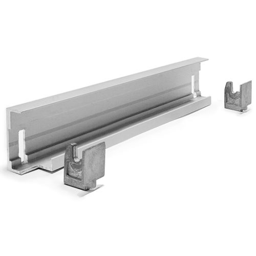 Eckmontageschiene für Aluminiumregal T=470 mm