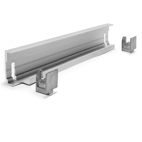 Eckmontageschiene für Aluminiumregal T=370 mm
