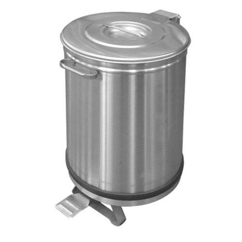 Abfalleimer in Edelstahl auf Rädern mit Fußbedienung, 90 Liter - Virtus - Gastroworld-24