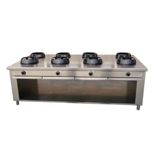 Allgas-Chinaherd, 2400x1400x850 mm, - GGG - Gastroworld-24