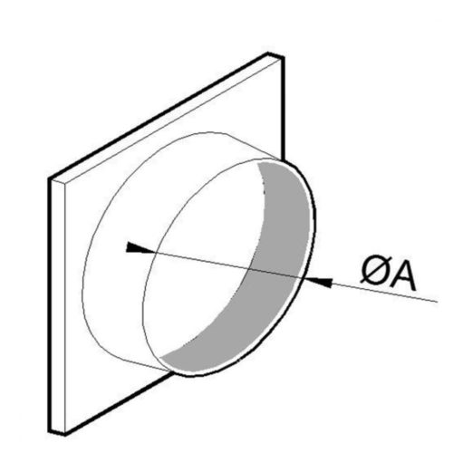 Ansaugstutzen für flexibles Aluminiumrohr, ø 400 mm - Virtus - Gastroworld-24