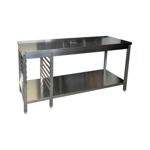 Arbeitstisch 1200x600x850mm, mit Grundboden und - GGG - Gastroworld-24