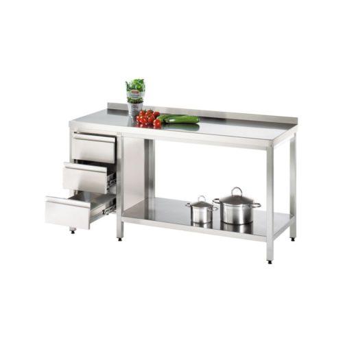 Arbeitstisch 1200x800x850mm - GGG - Gastroworld-24