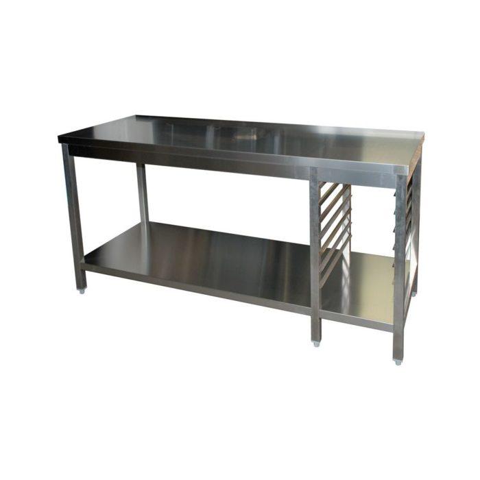 Arbeitstisch, 1300x600x850 mm, mit Grundboden - GGG - Gastroworld-24