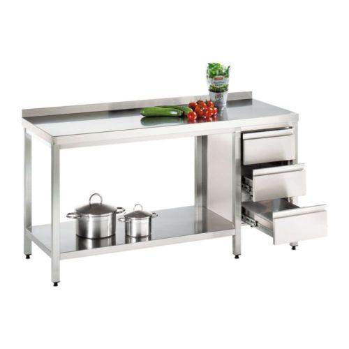 Arbeitstisch 1300x700x850mm - GGG - Gastroworld-24