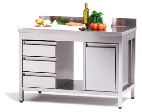 ATA 100/7 Arbeitstisch mit Wandhochzug - Produkt - Gastrowold-24 - Ihr Onlineshop für Gastronomiebedarf