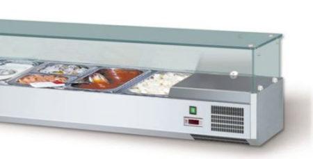 Aufsatzkühlvitrinen AKV 150 VISION TOP GN 1/4 - Produkt - Gastrowold-24 - Ihr Onlineshop für Gastronomiebedarf