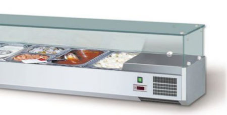 Aufsatzkühlvitrinen AKV 200 VISION TOP GN 1/4 - Produkt - Gastrowold-24 - Ihr Onlineshop für Gastronomiebedarf