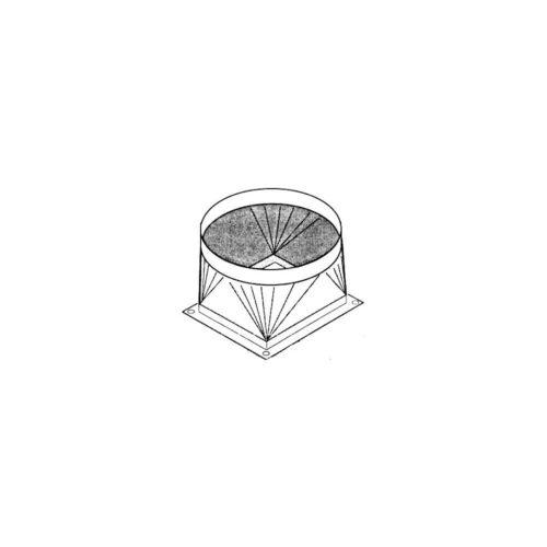 Ausblasstutzen, 443x493x325 mm, für 250er Rohre - GGG - Gastroworld-24