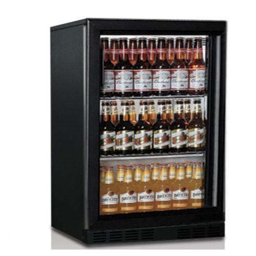 Barkühlschrank mit 1 Glasflügeltür, 133 Liter, +1°/+10°C - Virtus - Gastroworld-24