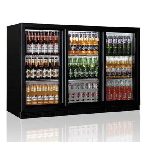 Barkühlschrank mit 3 Glasflügeltüren, 320 Liter, +1°/+10°C - Virtus - Gastroworld-24