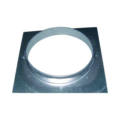Bundkragen mit Platte, 400x400x50 mm, für 315er Rohre - GGG - Gastroworld-24
