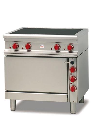 Ceranfeld 4 Felder mit Elektrobackrohr 540x540x300mm 14 1kW - Produkt - Gastrowold-24 - Ihr Onlineshop für Gastronomiebedarf
