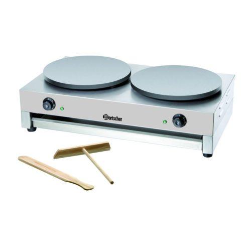Crépe Backgerät, 2 Platten, 400mm - Bartscher - Gastroworld-24