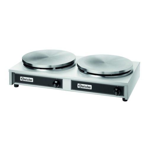 Crépegerät Gas, 2 Platten, 400mm - Bartscher - Gastroworld-24