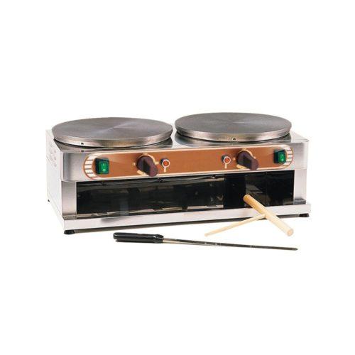 Crêpes-Eisen, Elektro, 710 x 370 x 250 mm, Ø 2 x 350 mm, - GGG - Gastroworld-24