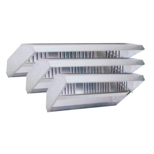 Deckenhaube, 4000x1500x450 mm, Ausführung in Edelstahl 18/10 - GGG - Gastroworld-24