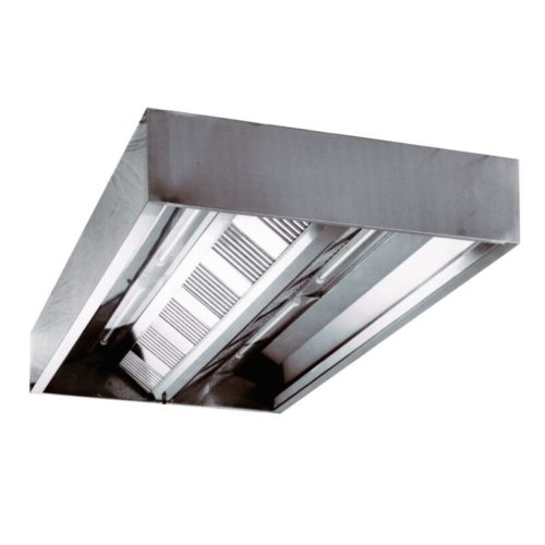Deckenhaube (Kastenform) 1800x1400x480 mm, - GGG - Gastroworld-24