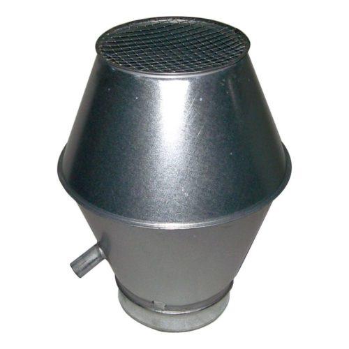 Deflektorhaube mit Ablauf, 430x430x620mm, für 250er Rohre - GGG - Gastroworld-24