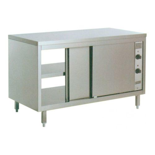Durchreiche-Wärmeschrank, 1600x700x850mm, CNS 18/10, - GGG - Gastroworld-24