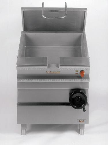 E-Kippbratpfanne 45l mit Hand Kippvorrichtung 800x700x875mm 5 - Produkt - Gastrowold-24 - Ihr Onlineshop für Gastronomiebedarf