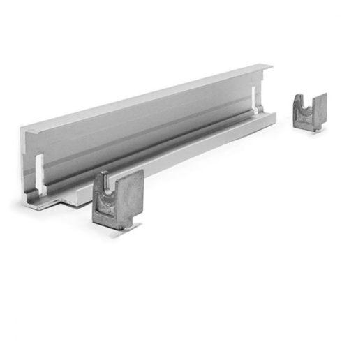Eckmontageschiene für Aluminiumregal T=370 mm - Virtus - Gastroworld-24