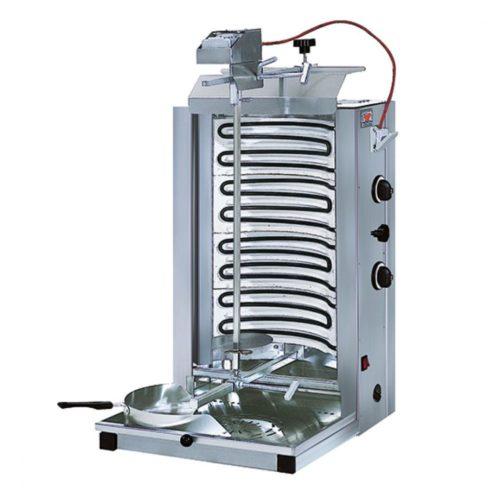 Elektro-Dönergrill mit 2 Heizzonen, Motor oben, 35 kg - Virtus - Gastroworld-24