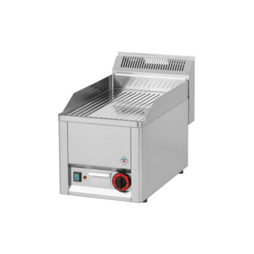 Elektro Griddleplatte, gerillt, 330x600x290 mm, verchromt, - GGG - Gastroworld-24