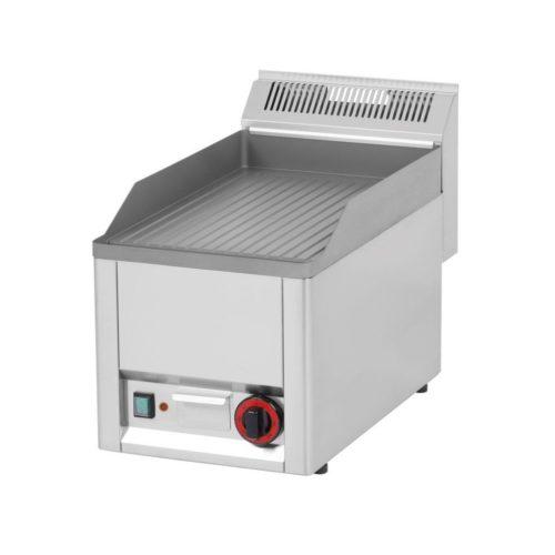 Elektro Griddleplatte, gerillt, 330x600x290mm, aus Edelstahl - GGG - Gastroworld-24