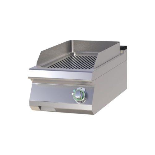 Elektro Griddleplatte, gerillt, 400x730x300 mm, - GGG - Gastroworld-24