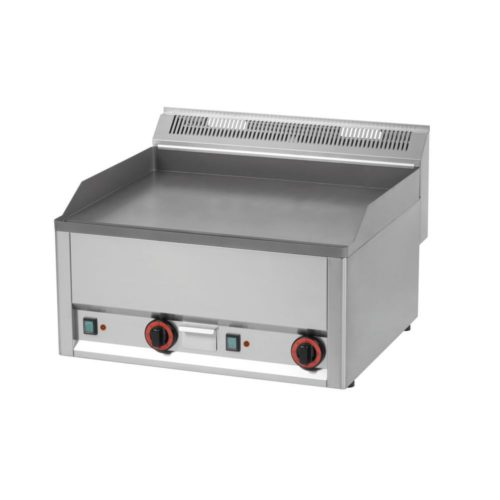 Elektro Griddleplatte, glatt, 660x600x290 mm, aus Edelstahl, - GGG - Gastroworld-24