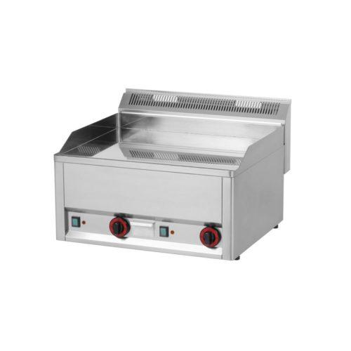 Elektro-Griddleplatte, glatt, 660x600x290mm, verchromt, - GGG - Gastroworld-24