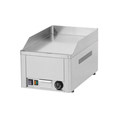 Elektro-Griddleplatte, glatt, verchromt, 330x600x290mm, - GGG - Gastroworld-24