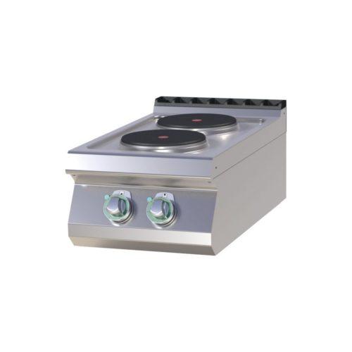 Elektro Kochfeld, 400 x 730 x 300 mm, 2 Kochplatten, - GGG - Gastroworld-24