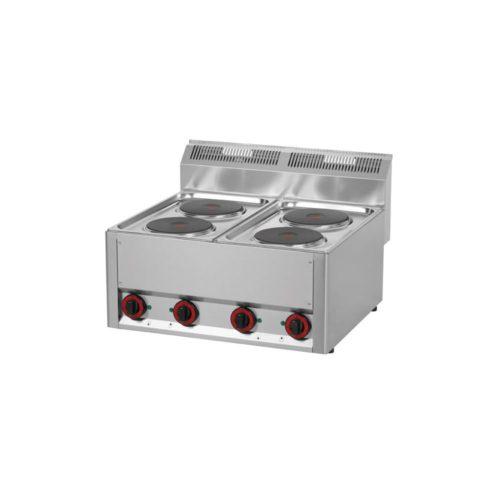 Elektro Kochfeld, 660x600x290 mm, 4 Kochplatten, - GGG - Gastroworld-24