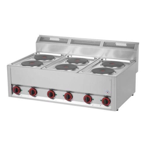 Elektro Kochfeld, 990x600x290 mm, 6 Kochplatten, - GGG - Gastroworld-24