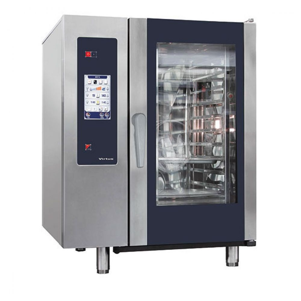 Elektro-Kombidämpfer mit Boiler und automatischem Reinigungssystem, 10x GN 2/1 - Virtus - Gastroworld-24