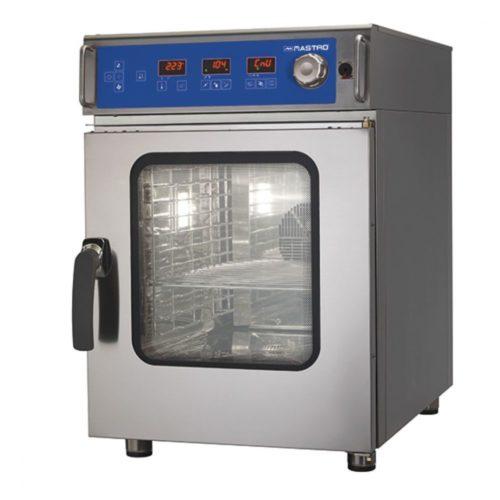 Elektro-Konvektionsofen 6 GN 1/1 mit Befeuchter, elektronischer Steuerung, automatischer Reinigung - Virtus - Gastroworld-24
