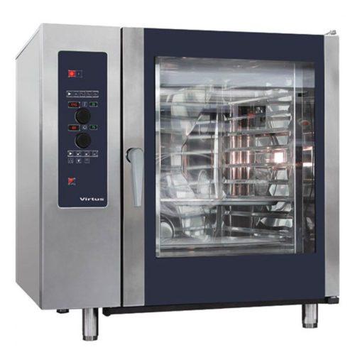 Elektro-Konvektionsofen mit Direkteinspritzung und automatischem Reinigungssystem, 10x GN 2/1 - Virtus - Gastroworld-24