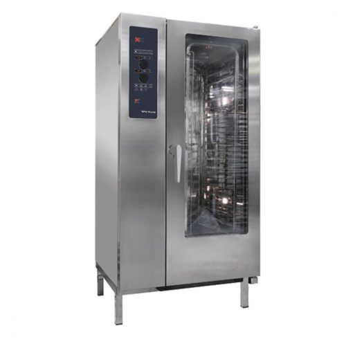 Elektro-Konvektionsofen mit Direkteinspritzung und automatischem Reinigungssystem, 20x GN 1/1 - Virtus - Gastroworld-24