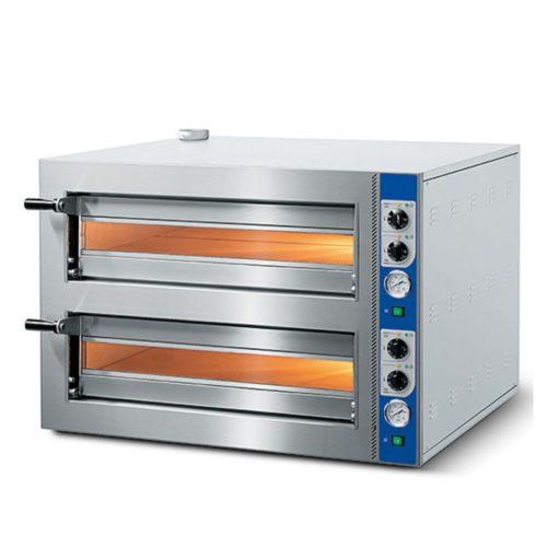 Elektro-Pizzaofen für 4+4 Pizzen ø 350 mm, mechanische Bedienung - Virtus - Gastroworld-24