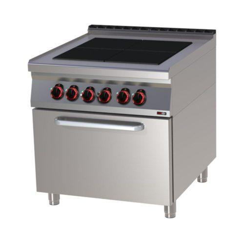 Elektroherd mit Backofen, 800x900x900 mm, 4 Platten, - GGG - Gastroworld-24