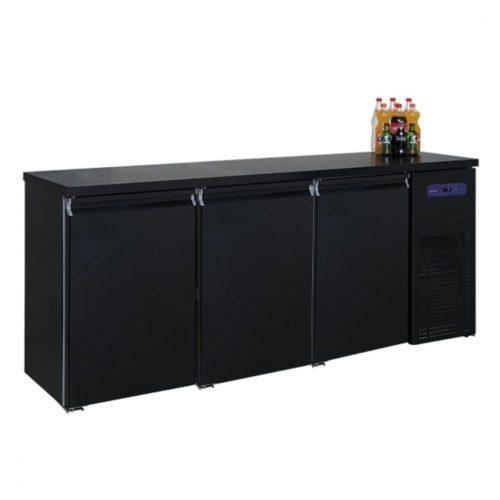 Flaschenkühler mit 3 Türen, 500 Liter, -2°/+8°C - Virtus - Gastroworld-24