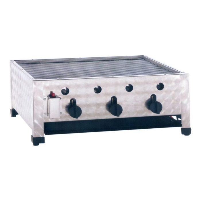 Gas-Kombibräter, Abmessungen: 650x530x280 mm, - GGG - Gastroworld-24