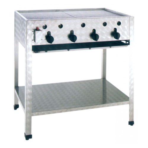 Gas-Kombibräter, Abmessungen: 815x530x830 mm, - GGG - Gastroworld-24