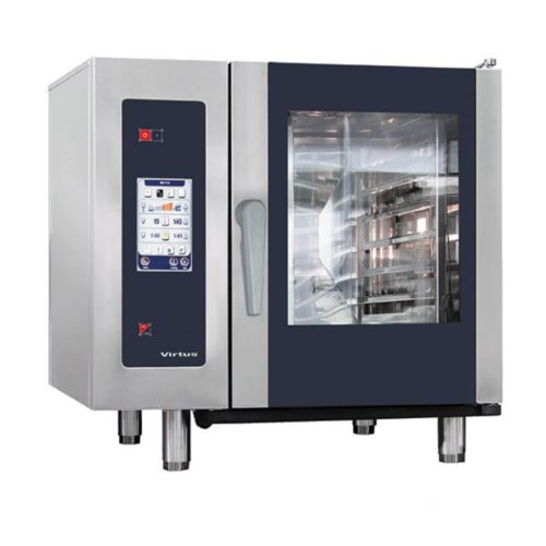 Gas-Kombidämpfer mit Boiler und automatischem Reinigungssystem, 6x GN 1/1 - Virtus - Gastroworld-24