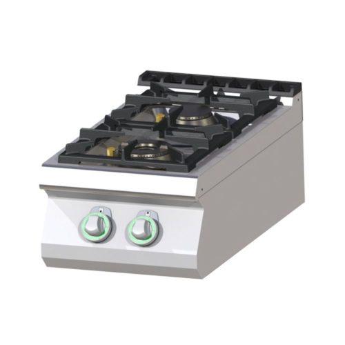 Gaskochfeld, 400x730x300 mm, 2 Kochplatten, 12 kW - GGG - Gastroworld-24