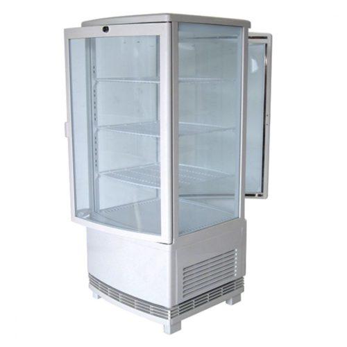 Getränkekühlvitrine mit 3 Böden, Tischmodell, 86 Liter, 0°/+12°C, Farbe weiß - Virtus - Gastroworld-24